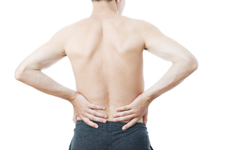 Pain in the lower back in men photo