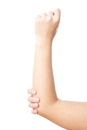 手の関節の痛み。女性の手のケア。