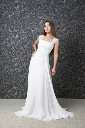 Beautiful Indian Woman In White Wedding Dress. Professional Makeup ...