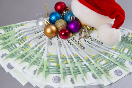 santa hat and money christmas background stock photo picture and royalty free image image 47799477