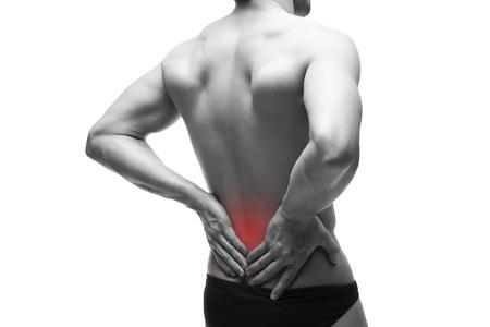 Der Mann Mit Rückenschmerzen. Schmerzen In Den Menschlichen Körper ...
