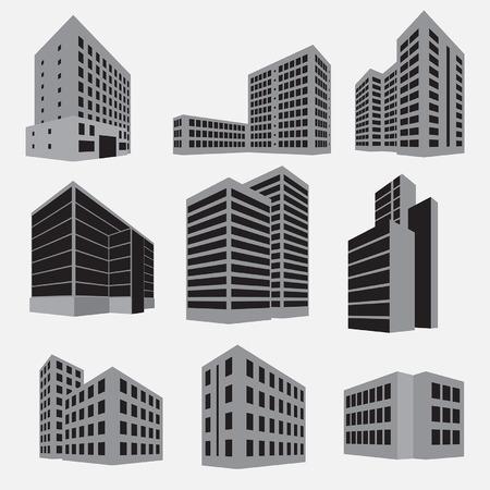 arquitectura: Icono de juego de construcción. Ilustración vectorial