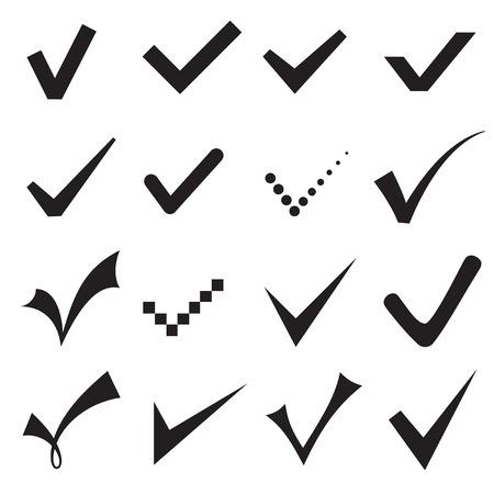 Check mark icons.