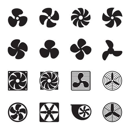 Wentylacja ikony samodzielnie na białym tle. ilustracji wektorowych