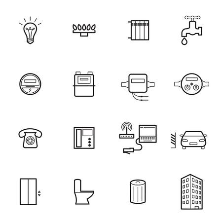 utilities: Utilities icons. Vector illustration