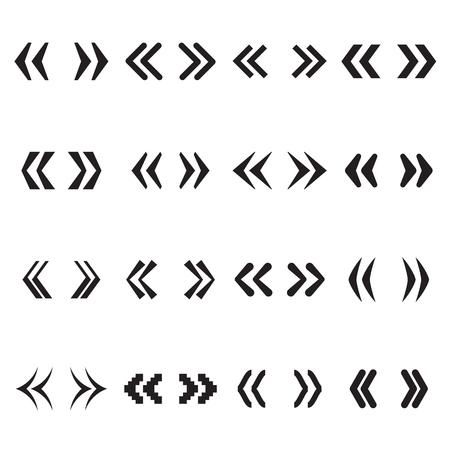 Guillemets, Cotizaciones en ángulo, América comillas o francés comillas. ilustración vectorial