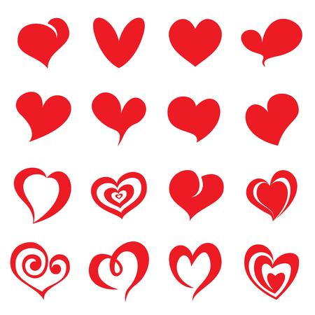Valentine heart symbols. Vector illustration