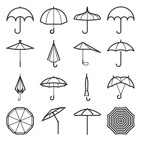 Umbrella icons vector illustration. Ilustrace