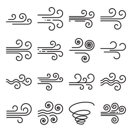 Wind icons.