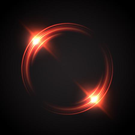 Streszczenie świecące efekt optyczny halo światła