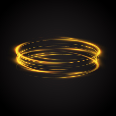 Abstract glowing rings, neon circles background