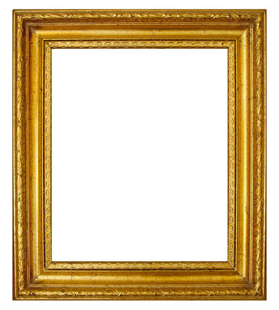 antique: Gold frame with antique moulding Stock Photo