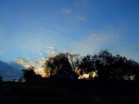 Beatiful sunset in Thailand photo
