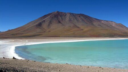 verde: Lago Verde,Salar de Uyuni,Bolivia Stock Photo
