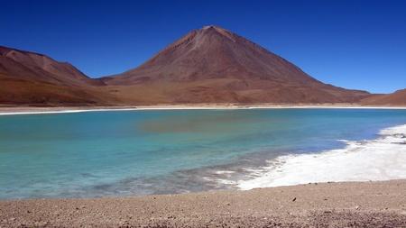 Lago Verde,Salar de Uyuni,Bolivia Stock Photo