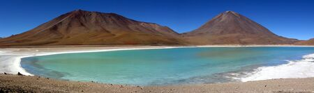 verde: Lago Verde panorama,Salar de Uyuni,Bolivia Stock Photo
