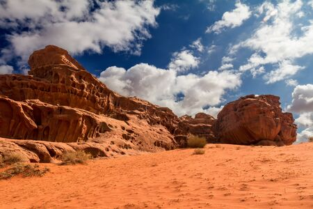 wadi: Wadi Rum desert landscape,Jordan