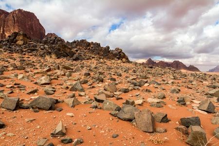 Paysage désert du Wadi Rum, en Jordanie Banque d'images
