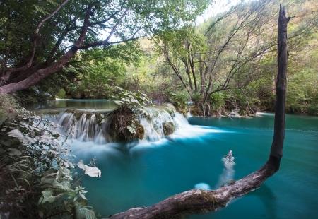 plitvice: Beautiful waterfalls in Plitvice Lakes National Park in Croatia