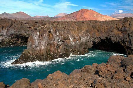 los hervideros: The cliffs of Lanzarote, Los Hervideros,Spain