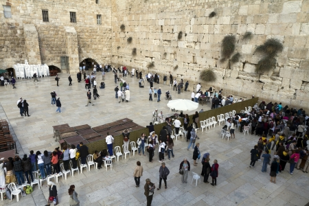 promised: Western Wall in the old city of Jerusalem, Israel