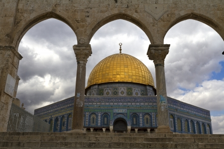 palestinian: Dome of the Rock, a Muslim holy site atop the Temple Mount in Jerusalem, Israel