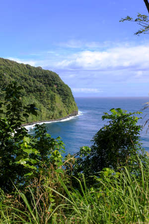 blue waters: The blue waters of Hawaii at Turtle Cove on the northern part of Maui, Hawaii
