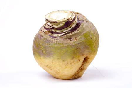 depends: Swede or Turnip? depends where you live. isolated against white background.