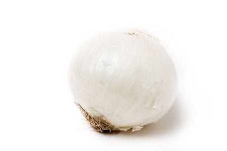 mild: Natural mild White Onion isolated against white background.