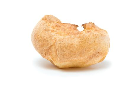 home cooked: Traditional home cooked Yorkshire Pudding isolated against white background.