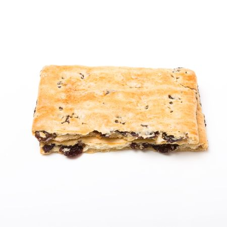 garibaldi: Garibaldi Biscuit from low perspective isolated against white bacground.