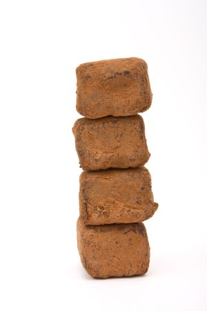 Tower of Champagne Truffles isolated against white background. Stock Photo - 6828279