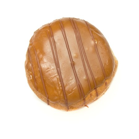 Custard Filled and chocolate covered Dougnut isolated against white background. Stock Photo - 6966480