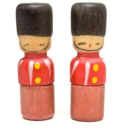 Vintage Novelty eraser / rubber in the guise of a wooden toy soldier. Stock Photo - 7846724