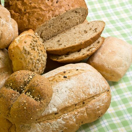 A selection of rustic organic handmade gourmet breads. Stock Photo - 7987931