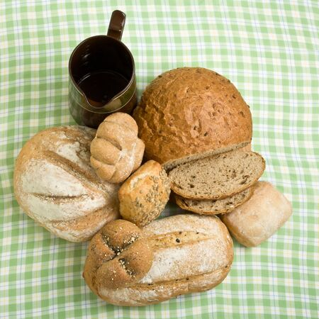 A selection of rustic organic handmade gourmet breads. Stock Photo - 7987926