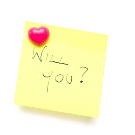 will you? message on post it note isolated on white. Stock Photo - 8369480
