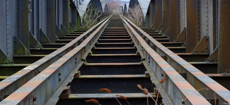 Old Railway Bridge between Blaydon and Scotswood on Tyneside photo