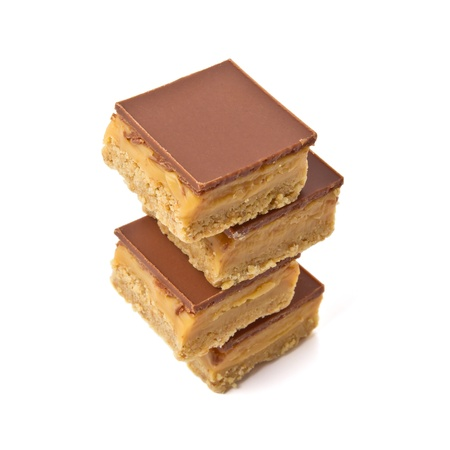 Luxury Shortbread called millionaires shortbread isolated on white. Stock Photo - 8688007