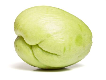 asian pear: Chayote also known as chow chow and many other names isolated on white.