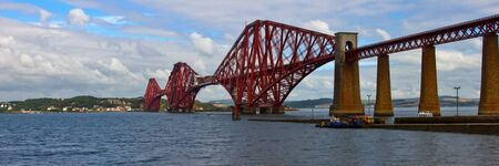 World famous Forth Rail Bridge spanning the Firth of Forth, Scotland. photo
