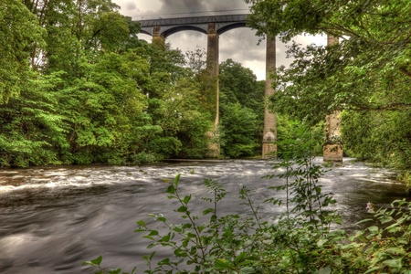 Pontcysyllte Aqueduct on the Llangollen canal near Trefor North Wales.