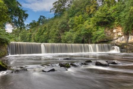 edinburgh: Cramond Weir on the river Almond near Edinburgh, Scotland