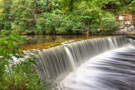 weir: Cramond Weir on the river Almond near Edinburgh, Scotland