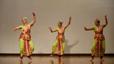 Delhi / India - October, 2019: Classical Indian Kathak dance performance in New Delhi, India Editorial