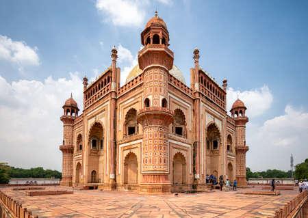 Delhi / India - September 21, 2019: Safdarjung's Tomb, Mughal style mausoleum built in 1754 in New Delhi, India