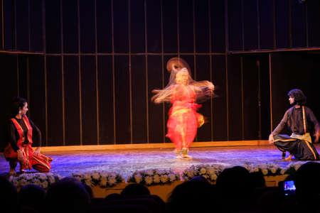 Delhi / India - September 30, 2019: Classical Indian Kathak dance performance in New Delhi, India Editorial