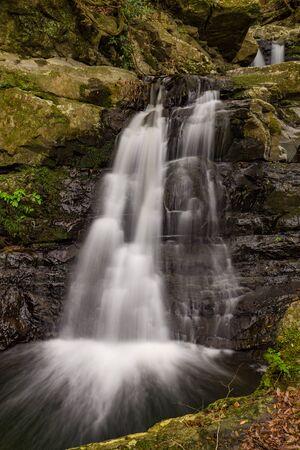 Waterfall cascades at Mt. Inunaki in Izumisano, Osaka Prefecture, Japan Reklamní fotografie