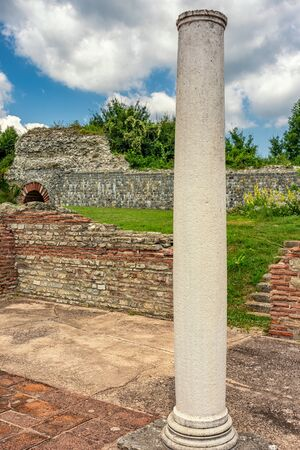 Remains of Gamzigrad (Felix Romuliana), ancient Roman complex of palaces built in 3rd and 4th century AD by Roman Emperor Galerius