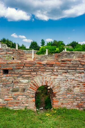 Remains of Gamzigrad (Felix Romuliana), ancient Roman complex of palaces built in 3rd and 4th century AD by Roman Emperor Galerius, Stock Photo
